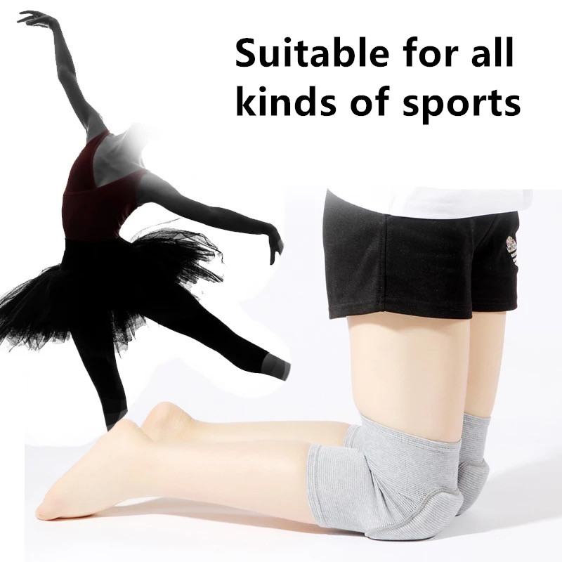 1 Pair Adults Child Kids Dance Basketball Soccer Goalkeeper Volleyball Yoga Knee Support Knee Pads Gym Fitness Knee Pad in Elbow Knee Pads from Sports Entertainment