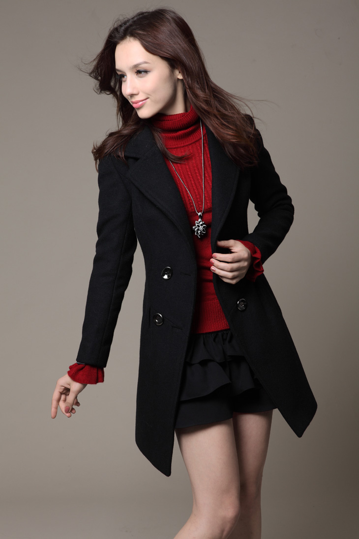 Long dress pea coats