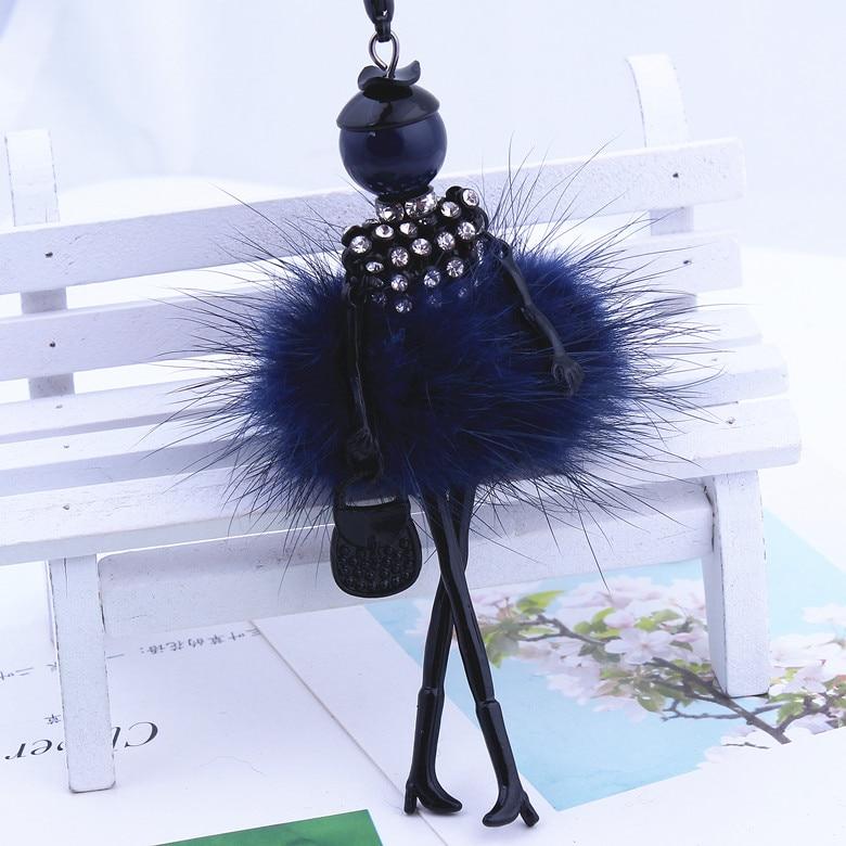 9 Colors New Gun Black Color Rubbit Fur Jewelry Cute Girl Dos