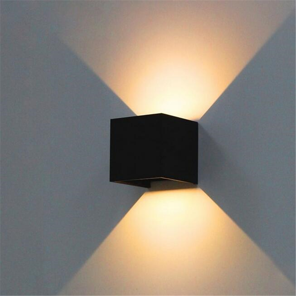 7w led outdoor wall lamp ip65 adjustable surface mounted outdoor 7w led outdoor wall lamp ip65 adjustable surface mounted outdoor cube led wall light whiteblack up and down wall light in led indoor wall lamps from aloadofball Choice Image