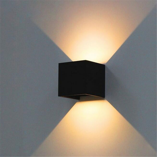 7w led outdoor wall lamp ip65 adjustable surface mounted outdoor 7w led outdoor wall lamp ip65 adjustable surface mounted outdoor cube led wall light white aloadofball Image collections