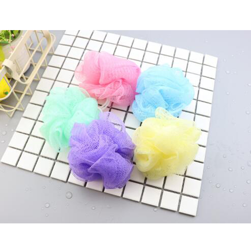 10pcs/Set Send Random Body Cleaning Mesh Shower Wash Environmental Bath Ball Tubs Scrubber Shower Nylon Sponge Bath Accessories