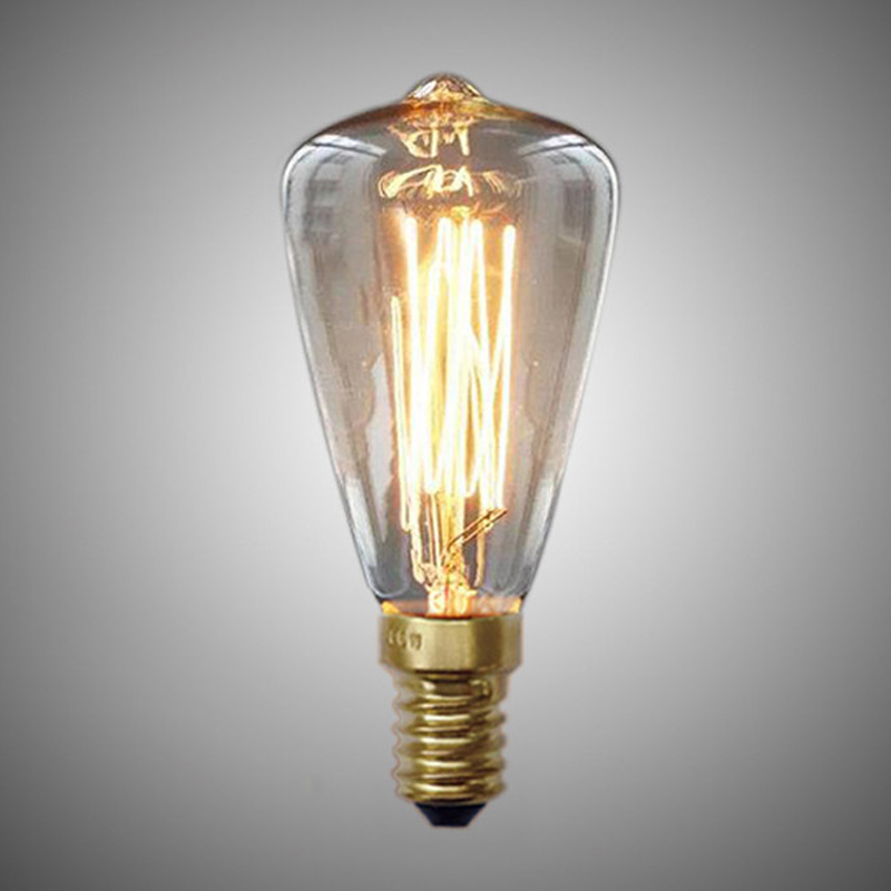 BHTS-Vintage Edison Bulbs E14 220V ST48 Incandescent Bulbs 25W 40W 60W Filament Retro Edison Light For Pendant Lamp