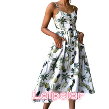 Print Floral Summer Dress Women 2018 Sexy Strapless Dress Female Elegant Bohemian Beach Party Dress vestidos Plus Size 3XL bohemian strapless sleeveless floral print women s dress