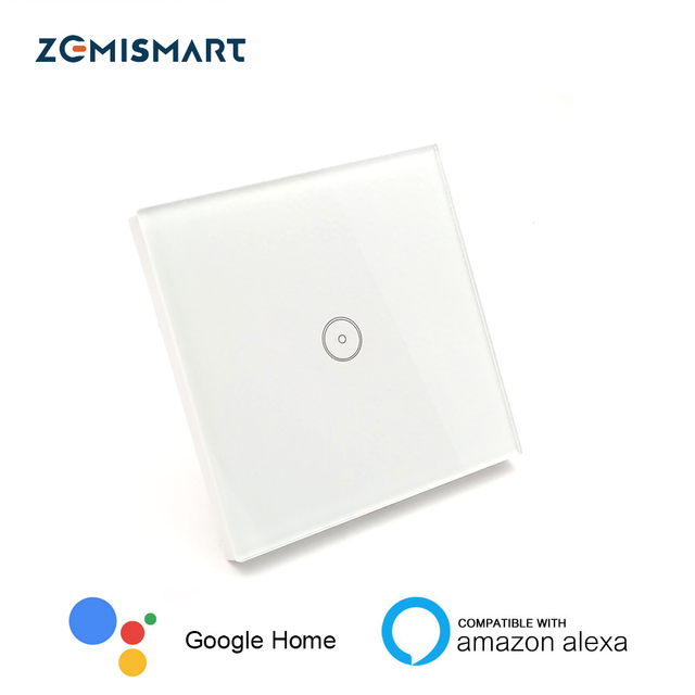 EU 1 Gang Wall Switch Work with Echo WiFi Smart Remote Control Light ...
