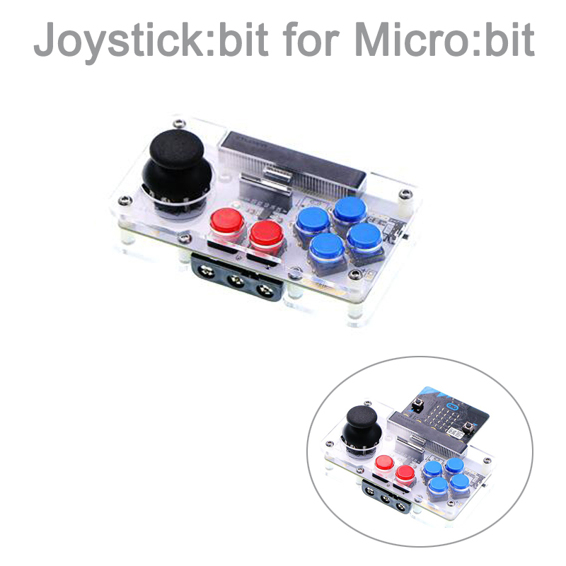 Joystick:bit for BBC Microbit Micro:bit Board Game Extending, for Python  Program, Built-in Power Switch & Outer Power Connector
