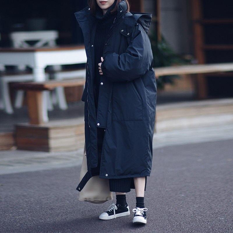 Autumn Winter Jacket Women Warm Parka Hooded Coats Jaqueta Feminina Jacket Outerwear Thicken Oversized Winter Female Parka Q800