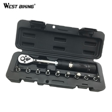 WEST BIKING 1/4'' 2-14NM Bike Torque Wrench Set Mechanical Torque Spanner Bicycle Repair Tools Kit Manual Wrenches Hand Tool Set