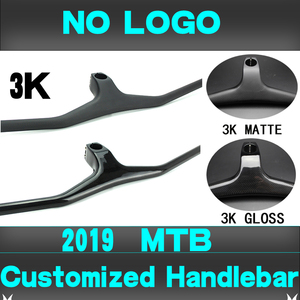 Image 4 - Syn Custom Champion MTB Bicycle Handlebar / Riser  17 degree One shaped Integrated Handlebar 3K Gloss or Matte Carbon Fiber Avi