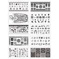 10 Листов/комплект Nee Jolie Ногтей Штамп Шаблон Прямоугольник Плиты Изображения NJX 001-010 12*6 см