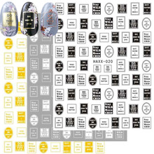 Newest 3d nail art sticker HAXX-20-21-22 letter Template Decals Tool DIY Nail Decoration Tools