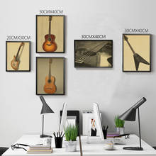 Vintage World Famous Guitar Poster Retro Living Room decoration Picture Large size Wall Sticker Home art Posters