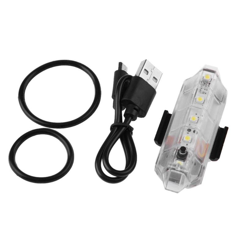 Bicycle Head Rear Tail COB LED Light 2 COLORSRainproof /& USB Fast charging