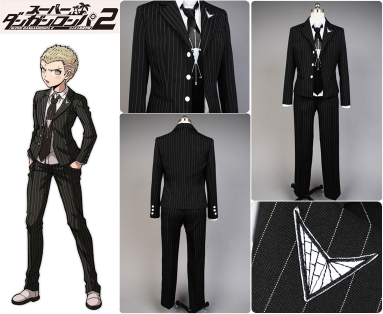 Super Danganronpa 2:Fuyuhiko Kuzuryu Uniform Male Coat Pants Anime Halloween Game Cosplay Costumes For Men Custom made