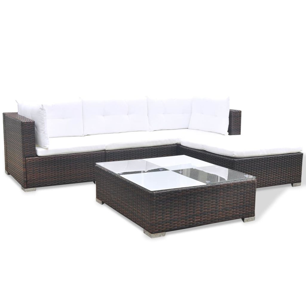Polyrattan Sofa Us 367 99 Vidaxl 14 Piece Garden Sofa Set Brown Poly Rattan In Garden Sets From Furniture On Aliexpress Alibaba Group