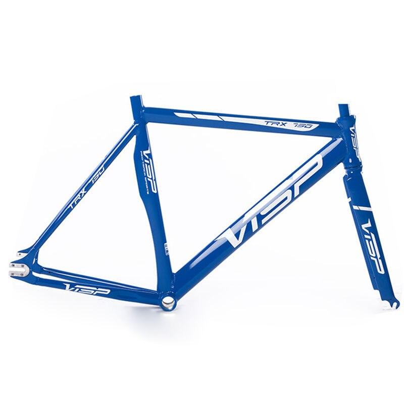 fixed gear bike  frame  48/50/51/54/58/60cm VISP790 700C frame  aluminium alloy track bicycle frame road Bike frame fork