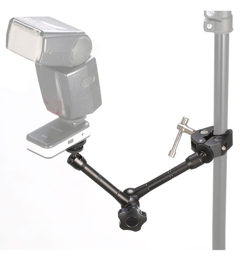 11 Inch Adjustable Friction Articulating Magic Arm + Super Clamp for DSLR LCD Monitor LED Flash Light Camera Accessories (8)
