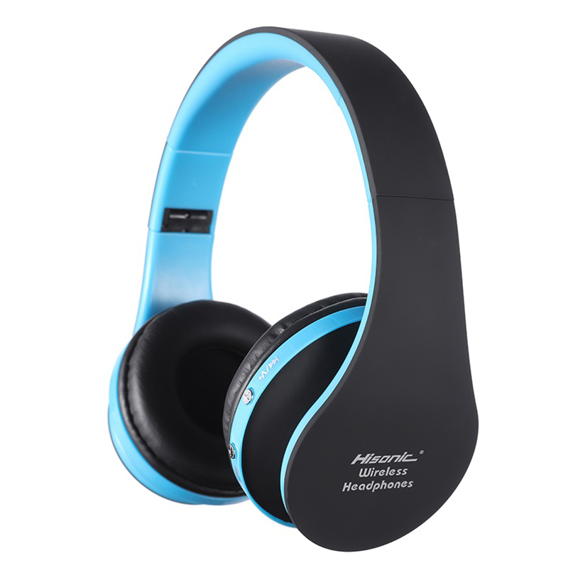 Hisonic Wireless Bluetooth Headphone Earphone Membatalkan Bluetooth Headset V4.1 Dilipat dengan Mikrofon USB Permainan Headphone