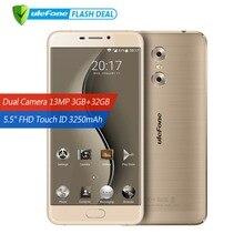 Ulefone Gemini Оригинальный телефон Двойная камера 13.0MP+5.0MP Мобильный телефон 5.5 дюймов FHD MTK6737T Quad Core Android 6.0 3 ГБ + 32 ГБ Touch ID 4G Смартфон GPS