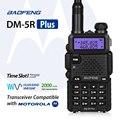 Plus de doble banda baofeng dm-5r dmr digital radio walkie taklie transceptor 1 W 5 W VHF UHF 136-174/400-520 MHz Radio de Dos Vías 2000 mAH