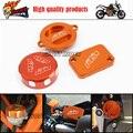 Tampa do pote de óleo da motocicleta CNC tampas do tanque Reservatório Do Freio Traseiro tampa se encaixa para KTM DUKE 125 200 390 RC200 RC390 2012-2015