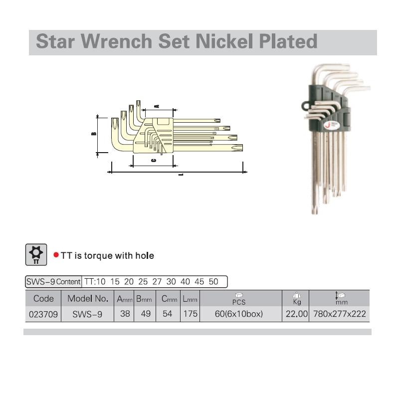 Jetech 9db hosszú nyomatékú csillag kulcskészletek torx - Kézi szerszámok - Fénykép 2