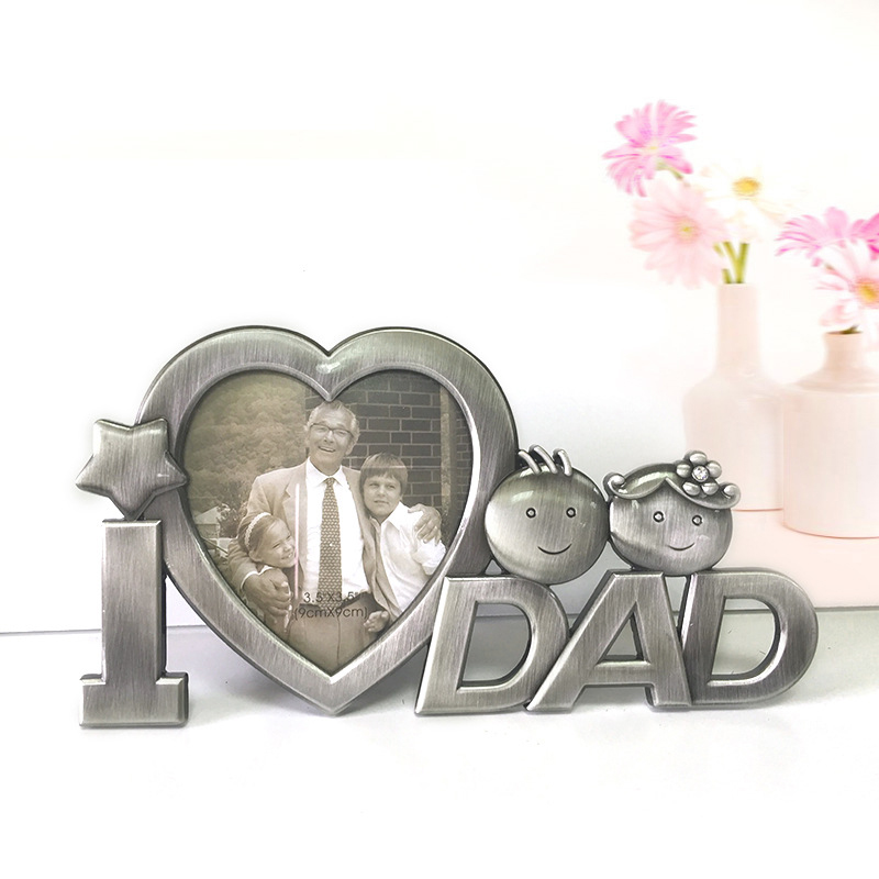 new arrival vintage photo frame for dad lovely diy metal picture frame fathers day creative gifts