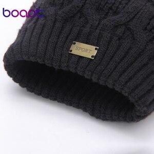 Image 5 - Bonnet en laine tricotée à Double couche