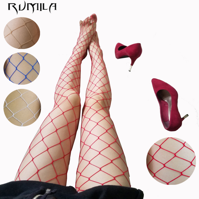 White Red SEXY Women High Waist Fishnet Stocking Fishnet Club Tights Panty Knitting Net Pantyhose Trouser Mesh Lingerie TT016