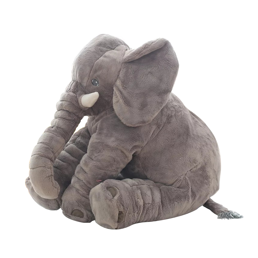 Toys & Hobbies ... Stuffed Animals & Plush ... 32724051340 ... 2 ... 40/60cm Fashion Baby Animal Plush Elephant Doll Stuffed Elephant Plush Soft Pillow Kid Toy Children Room Bed Decoration Toy Gift ...