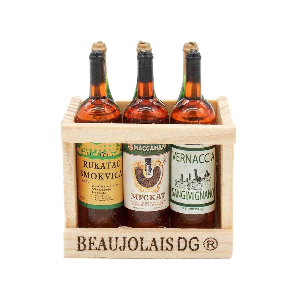 3pcs Wine Whisky Bottles 1:12 Scale Dollhouse Miniature Pub Bar Accessories