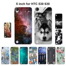 """Мягкий силиконовый чехол для htc desire 530 5,"""", роскошный чехол с пейзажем для htc desire 530/desire 630, чехол для мобильного телефона из ТПУ, чехол s"""