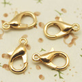 10mm 12mm 14mm Lobster Clasp Hooks Gold Silver Rhodium Necklace Bracelet Chain DIY Jewelry Accessories Findings Parts  PJ-12