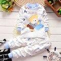 Atacado de alta qualidade de outono do bebê roupas de algodão 100% do bebê da menina roupas de bebê menino conjunto de roupas de bebê Crianças conjunto de roupas bebes