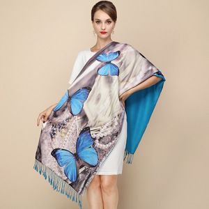 Image 4 - DANKEYISI 2018 Fashion Designer Ladies Big Scarf Women Brand Wraps Real Double deck Thickened Brush Autumn Winter Shawl Scarves