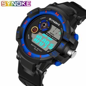 SYNOKE спортивные часы мужские цифровые светодиодные военные часы мужские модные повседневные электронные наручные часы Мужские часы Montre Homme ...