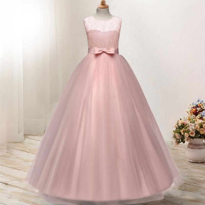 2018 Kids Girls Elegant Wedding Flower Girl Dress Princess Party ...