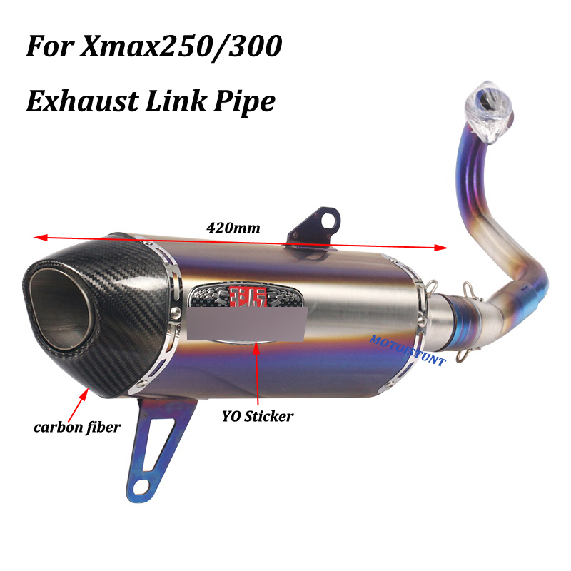 Image 4 - For Yamaha Xmax250 Xmax300 Full exhaust System Motorcycle Escape Modified With stainless steel Front Mid Link Pipe Slip on-in Exhaust & Exhaust Systems from Automobiles & Motorcycles