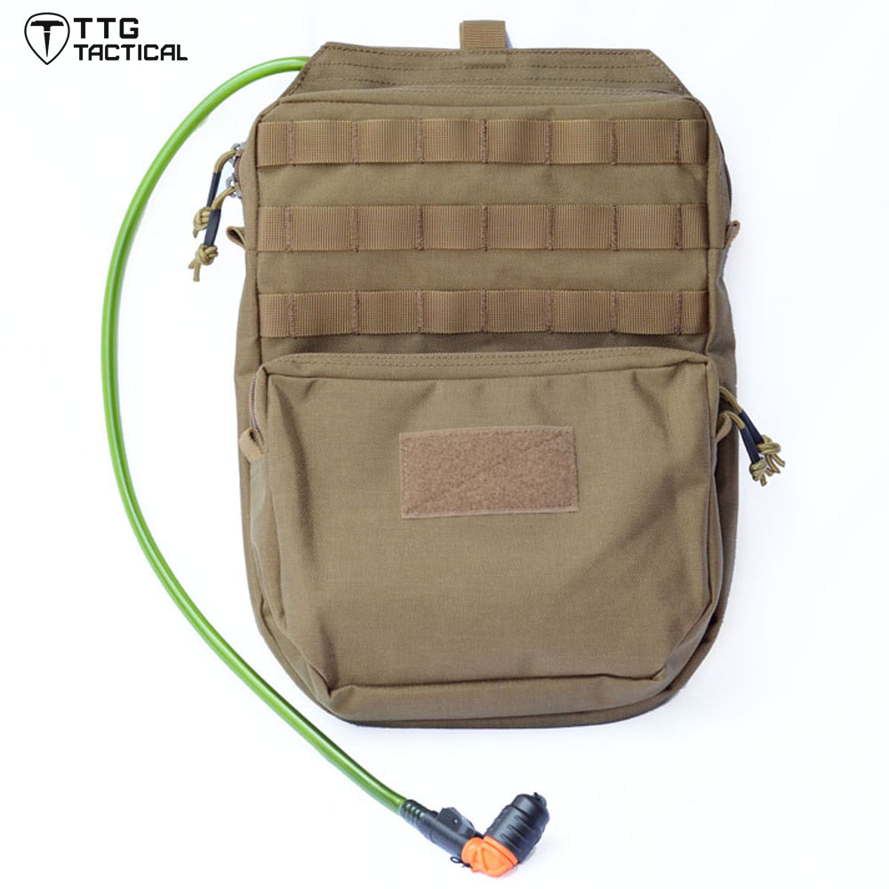 TTGTACTICAL 3L MOLLE Hydration Pack Backpack Military Hydration Carrier, 1000D Nylon, Available in Black & Coyote Brown emersongear lbt2649b hydration carrier for 1961ar molle backpack military tactical bags hunting bag multicam tropic arid black
