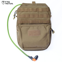 TTGTACTICAL 3L MOLLE Hydration Pack Backpack Military Hydration Bladder Carrier, 1000D Nylon