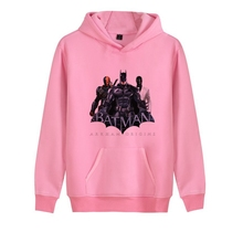 The cool Dark Knight Batman logo Printed Illustration Trendy Harajuku Hoodie with Pocket Winter Junior Pullover Leisure