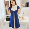 2016 New Summer Fashion Style Dress White Collar  cute Dresses Free Shipping  JN239