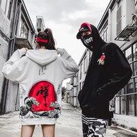 Newautumn/inverno 2018 feminino baggy bf harajuku chinês hip hop casual hoodies