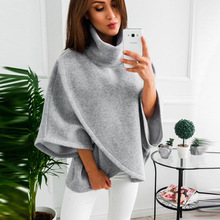 Woman Solid Sweatshirts Ladies Autumn Winter Clothing  Classics Fashion Casual Flare Sleeve Stand Sports Shirts