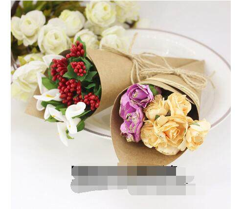 Online shop 50pcslot free shipping kraft paper cones bouquet candy image mightylinksfo
