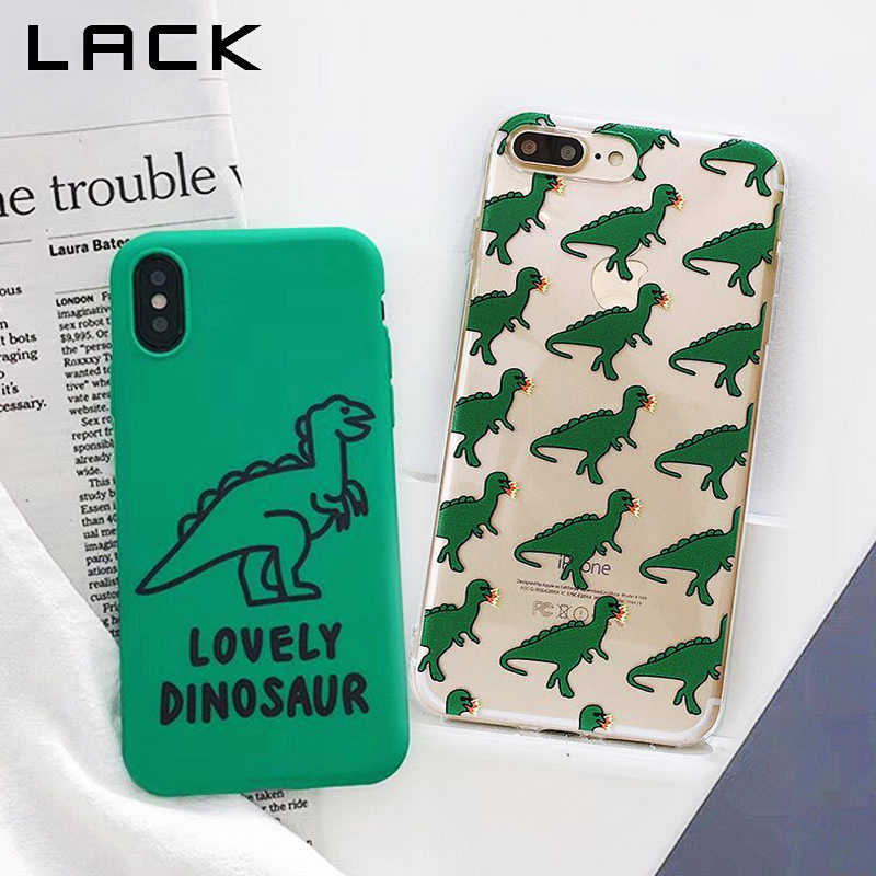 online store 65217 013f7 LACK Funny Dinosaur Phone Case For iphone X Case For iphone 6 6S 7 8 Plus  Lovely Cartoon Cases Ultra Slim Soft TPU Back Cover