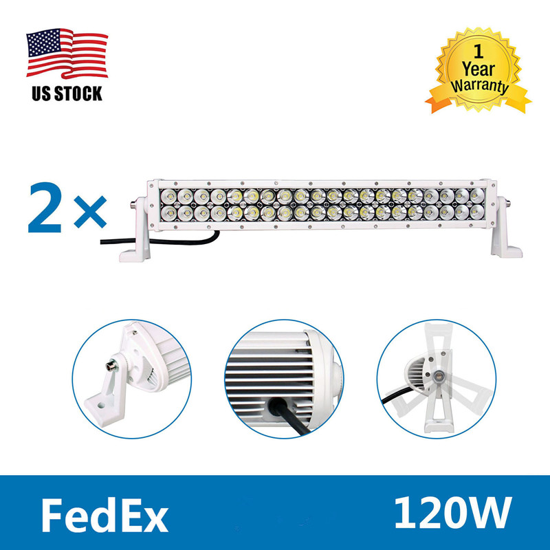 2Pcs Yetaha 22'' 120W LED Light Bar Work Light Car Driving Lights Lamp Wiring Kit Combo Flood Spot Beam For Jeep SUV Offroad partol 31 330w 5d led light bar spot flood combo beam car work light bars driving lamp 4x4 offroad 4wd 12v atv suv