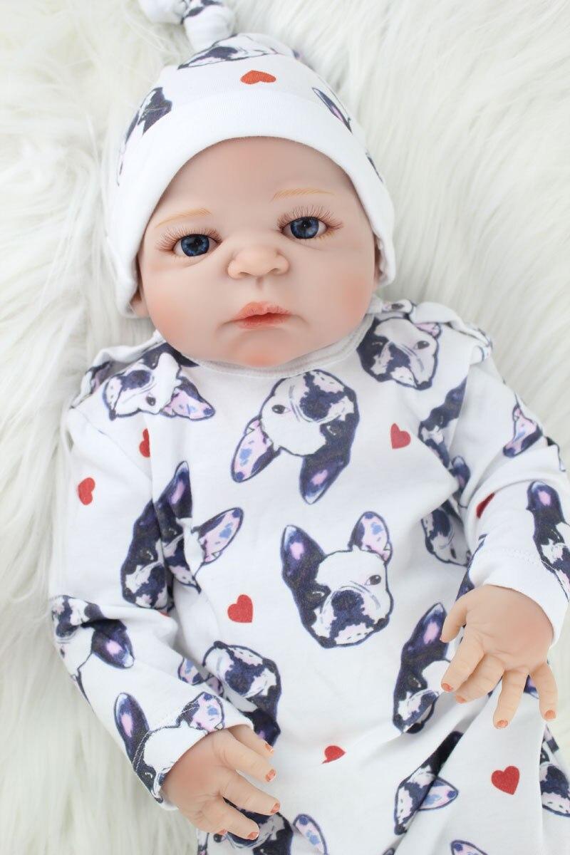 55cm Full Body Silicone Reborn Baby Boy 22 Realistic Bebe Newborn Doll Toy Cute Child Birthday Gift Waterproof Bathe Toy