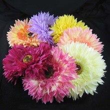 7 цветов на ваш выбор 12 шт./партия 5 ''цветок ромашки с заколкой для волос и брошь булавка для женщин