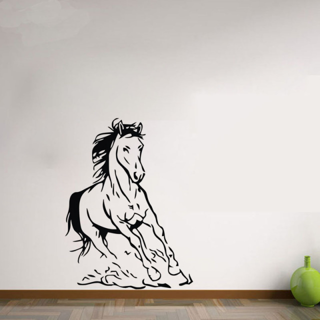 Horse Wall Stickers Home Decorations Animals Wallpaper For Bedroom Vinyl  Art Wall Decals Removable